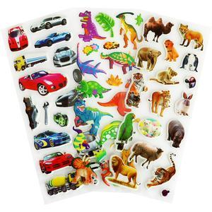 60 Assorted 3D Puffy Stickers Pack
