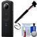 Ricoh Theta S 360-Degree Spherical Digital Camera (Black) with Selfie Stick + Kit
