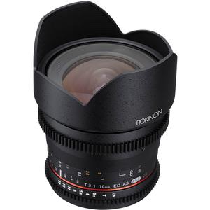 Rokinon 10mm T/3.1 Cine Wide Angle Lens (for Video DSLR Sony Alpha A-Mount Cameras)
