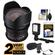 Rokinon 10mm T/3.1 Cine Wide Angle Lens (for Video DSLR Olympus/Panasonic Micro 4/3) with 2 Year Ext. Warranty + LED Video Light + Microphone Kit