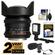 Rokinon 14mm T/3.1 Cine Wide Angle Lens (for Video DSLR Sony Alpha A-Mount Cameras) with 2 Year Ext. Warranty + LED Video Light + Microphone Kit