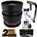 Rokinon 16mm T/2.2 Cine Wide Angle Lens (for Video DSLR Sony Alpha A-Mount Cameras) with 2 Year Ext. Warranty + Steadycam + 3 Filters Kit