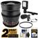 Rokinon 24mm T/1.5 Cine Wide Angle Lens (for Video DSLR Olympus/Panasonic Micro 4/3) with 2 Year Ext. Warranty + Filter + LED Video Light + Microphone Kit