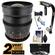 Rokinon 24mm T/1.5 Cine Wide Angle Lens (for Video DSLR Olympus/Panasonic Micro 4/3) with 2 Year Ext. Warranty + Steadycam + 3 Filters Kit