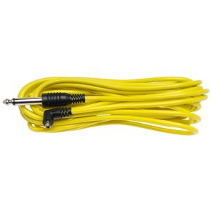 RPS Studio .25 inch Mono Jack to Male PC Cord - 5M-16.5 Feet - Yellow -
