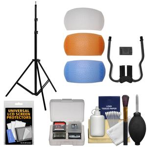 RPS Studio 3 Section 10 ft. Aluminum Light Stand with Flash Diffusers + Accessory Kit