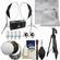 RPS Studio Hybrid Still & Video Lighting Studio Kit (RS-4085) with Muslin Background + Tripod + Reflector + Cleaning Kit