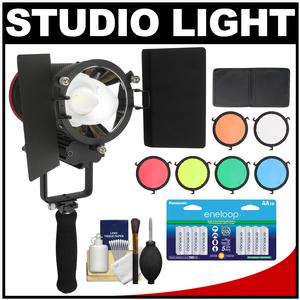 RPS Studio CooLED 20W High Power Light with 6 Color Filters and 16 AA Batteries and Cleaning kit