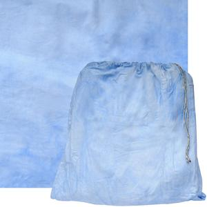 RPS Studio 10x10 Grab-It Muslin Painted Background with Pouch - Pacific Blue Wave -