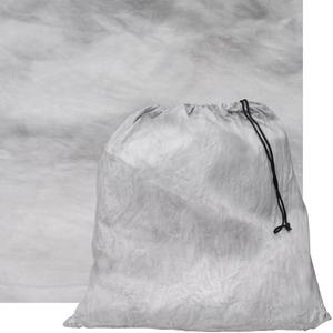 RPS Studio 10x10 Grab-It Muslin Painted Background with Pouch-Gray Fog -