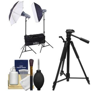 RPS Studio RS-SR300DK 600 Watt - Second Portable 2-Monolite Lighting Kit with Tripod + Cleaning Kit