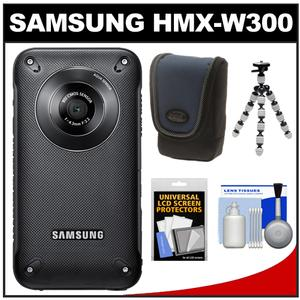 Samsung HMX-W300 Shock + Waterproof Pocket HD Digital Video Camera Camcorder (Black) with Case + Tripod + Accessory Kit at Sears.com