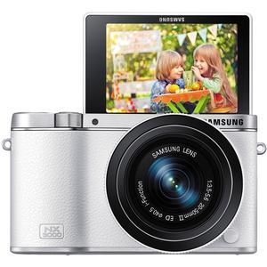 Samsung NX3000 Smart Wi-Fi Digital Camera with 20-50mm Lens & Flash (White)