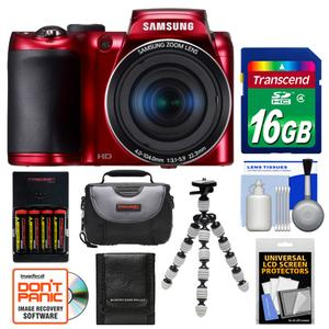 about Samsung WB100 Smart Digital Camera Kit 16.2MP Red NEW USA