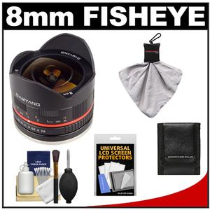 Samyang 8mm f/2.8 UMC Fisheye Manual Focus Lens (for Sony NEX Cameras) with Cleaning + Accessory Kit at Sears.com