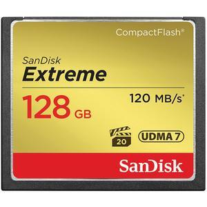 SanDisk Extreme 128GB 120MB-s UDMA7 CompactFlash Memory Card
