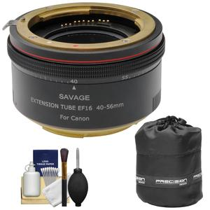 Savage Macro Art Variable Auto-Extension Tube - for Canon EOS Cameras - with Lens Pouch + Cleaning Kit