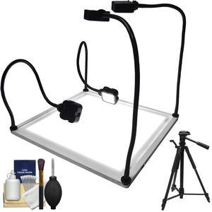 Savage Product Pro 15 inch x 15 inch LED Light Table with 58 inch Photo-Video Tripod + Cleaning Kit