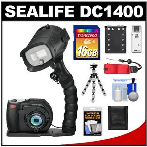 Sealife DC1400 Pro 14MP HD Underwater Digital Camera with Flash + Flex Arm Bracket + 16GB Card + Battery + Tripod + Accessory Kit at Sears.com