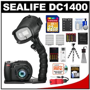 Sealife DC1400 Pro 14MP HD Underwater Digital Camera with Flash + Flex Arm Bracket + 32GB Card + Battery + Tripod + Accessory Kit at Sears.com