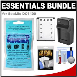 Essentials Bundle for SeaLife DC1400 HD Underwater Digital Camera with Silica Gel + Battery + Charger + Accessory Kit