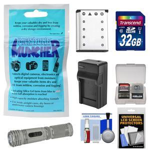 Essentials Bundle for SeaLife DC1400 HD Underwater Digital Camera with Silica Gel + 32GB Card + Tactical LED Torch + Battery + Charger + Accessory Kit