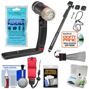 SeaLife SL670 Sea Dragon 2100 UW Photo-Video Dive Light Kit with Aquapod + Silica Gel + Floating Strap + Accessory Kit