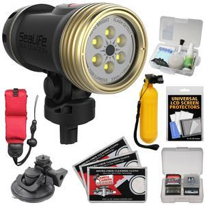 SeaLife SL6740 Sea Dragon 2300 UW Photo - Video LED Dive Light - Head Only - with AquaPod Monopod + Suction Cup Mount + Buoy Handle + Floating Strap + Kit