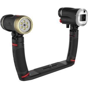 SeaLife SL964 Sea Dragon Duo 2300 UW Photo - Video LED Dive Light and Flash Set with Flex-Connect Dual Tray and Arm Grips