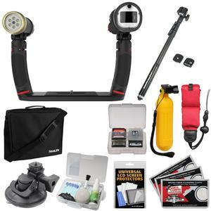 SeaLife SL964 Sea Dragon Duo 2300 UW Photo - Video LED Dive Light and Flash Set with Flex-Connect Tray and Grip + AquaPod + Suction Cup Mount + Buoy + Floating Strap + Kit
