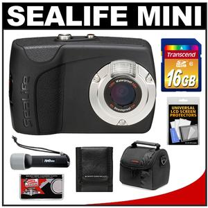 SeaLife Mini II Underwater Shockproof & Waterproof Digital Camera with 16GB Card + Case + Underwater Light + Accessory Kit