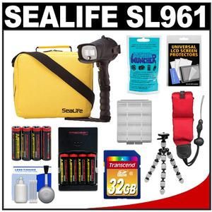 SeaLife SL961 Universal Underwater Photo/Video Pro Flash with Arm Bracket and Case with 32GB Card + Batteries & Charger + Flex Tripod + Silica Gel + Accessory Kit