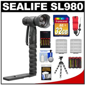 SeaLife SL980 Underwater Photo/Video Light with Arm Bracket with 32GB Card + Batteries & Charger + Tripod + Accessory Kit