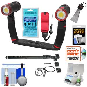 SeaLife SL989 Underwater Photo-Video Sea Dragon Duo 5000 Video Light Set with Aquapod and Silica Gel and Floating Strap and Accessory Kit