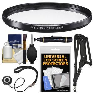 Sigma 67mm WR Ceramic Protector Filter with Sling Strap + Cleaning Kit