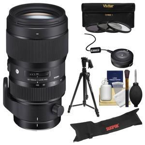 The Sigma 50-100mm f/1.8 DC HSM Art is a premium mid-telephoto zoom lens designed for APS-C sized sensors. It features an f/1.8 aperture all the way through its focal length  and factoring in the APS-C increase  the lens covers a highly useful range of 75-150mm. An enhanced and slimmer Hyper Sonic Motor (HSM) provides fast and accurate autofocus  while 3 Premium FLD and 1 SLD Elements produce incredible image sharpness. Inner focusing ensures stability while focusing without changing the lens physical length.