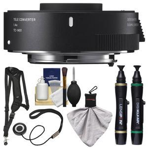 Sigma TC-1401 1.4x Teleconverter-for Canon EOS Cameras-with Sling Strap and Cleaning Kit