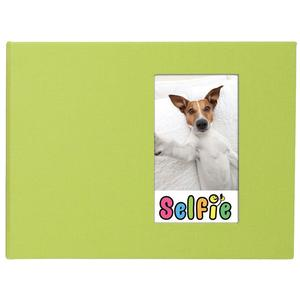 Selfie 2.25 inch x 3.5 inch Photo Album - Holds 40 Photos - Lime - for Polaroid PIF-300 Instant and Fuji Instax Mini Film