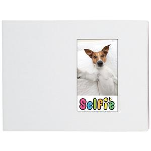 Selfie 2.25 inch x 3.5 inch Photo Album - Holds 40 Photos - White - for Polaroid PIF-300 Instant and Fuji Instax Mini Film