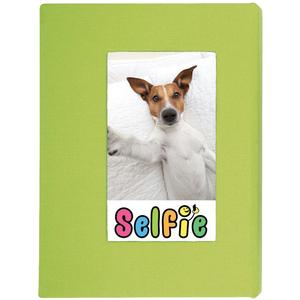 Selfie 2.25 inch x 3.5 inch Photo Album - Holds 20 Photos - Lime - for Polaroid PIF-300 Instant and Fuji Instax Mini Film