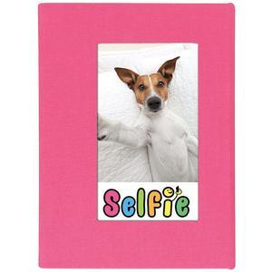Selfie 2.25 inch x 3.5 inch Photo Album - Holds 20 Photos (Pink) for Polaroid PIF-300 Instant & Fuji Instax Mini Film