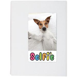 Selfie 2.25 inch x 3.5 inch Photo Album-Holds 20 Photos-White-for Polaroid PIF-300 Instant and Fuji Instax Mini Film