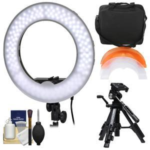 Smith-Victor 13.5 inch LED Ring Light and Case with Macro Tripod and Cleaning Kit