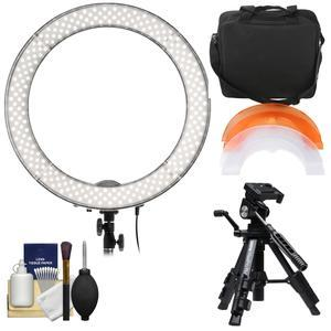 Smith-Victor 19 inch LED Ring Light and Case with Macro Tripod + Cleaning Kit