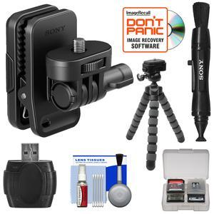 Sony AKA-CAP1 Cap Clip for Action Cam with Flex Tripod + Lens Pen + Reader + Kit