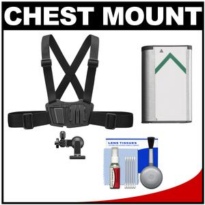 Sony AKA-CMH1 Chest Mount Harness for Action Cam with NP-BX1 Battery and Cleaning Kit