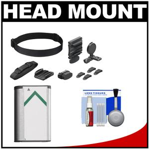 Sony BLT-UHM1 Universal Head Mount for Action Cam with NP-BX1 Battery and Cleaning Kit
