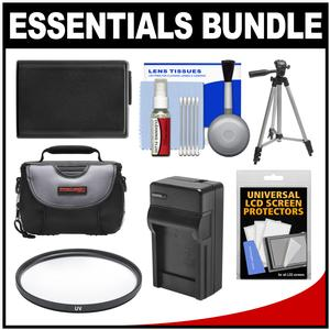 Essentials Bundle for Sony Alpha A5100 A6000 A6300 A6500 Digital Camera and 16-50mm Lens with Case and NP-FW50 Battery and Charger and Tripod and Filter Kit