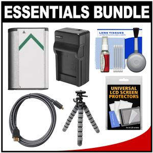 Essentials Bundle for Sony Cyber-Shot DSC-RX100 II III IV V Digital Cameras with NP-BX1 Battery and Charger + Flex Tripod + HDMI Cable + Accessory Kit