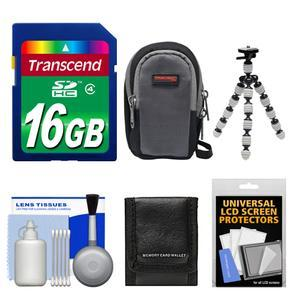 Essentials Bundle for Sony Cyber-Shot DSC-RX100 II III IV V Digital Cameras with 16GB Card + Case + Flex Tripod + Accessory Kit